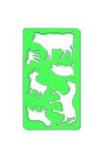 Šablona zvířata zelená