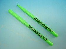 Zvýrazňovač tenký zelený