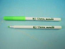 Značkovač na textil fluo zelený