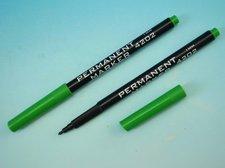 Popisovač permanentní zelený trojhranný