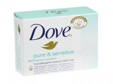 Dove Pure & Sensitive hypoalergenní toaletní mýdlo 100 g