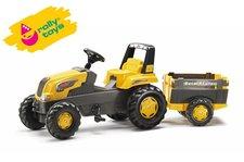 Rolly Toys - Šlapací traktor Rolly Junior s Farm vlečkou - žlutý