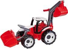 Traktor se l��c� a bagren, �erve