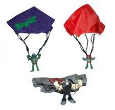 TMNT Želvy Ninja mini mutants sada s padákem a figurkou Mike a Elite Foot