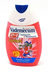 VADEMECUM zubní pasta 75ml 2v1 Junior Jahoda