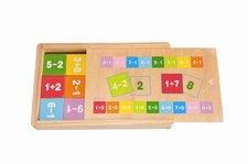 Woody puzzle v krabičce se sčítáním a odčítáním
