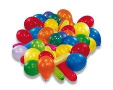 Nafukovací balónky - mix barev a tvarů, 50 ks