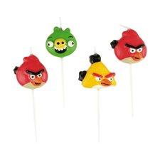 Dortové svíčky Angry Birds - 4 ks, mix motivů