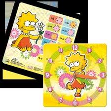 Argus výukové hodiny, 21*21 cm The Simpsons