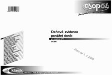 Daňová evidence - Peněžní deník - pro neplátce DPH