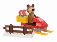 PlayBIG Bloxx Máša a medvěd na snežném skútru
