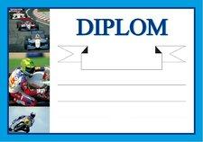 Diplom A5 - Moto - sport