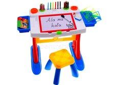 Kreslící tabule stůl s židličkou