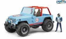BRUDER 02541 Závodní Jeep Cross modrý se závodníkem