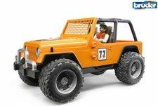 BRUDER 02542 Závodní Jeep Cross oranžový se závodníkem
