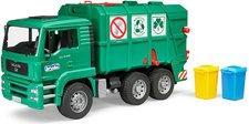BRUDER 2753 Nákladní auto MAN popelářské zelené