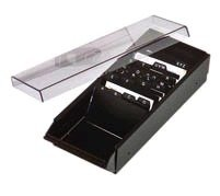 krabička na 700 vizitek, A-Z, plast/kov