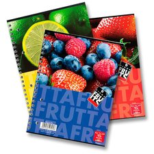 Pigna Fruits - kroužkový blok - A4, čistý