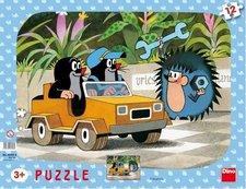 Puzzle Krteček a autíčko 12d