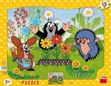 Puzzle Krteček zahradník 12d