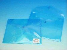 Obálky A5 transparentní modré s drukem