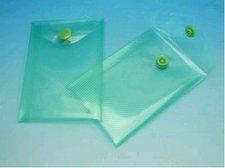 Obálka A7 transparentní zelená s drukem
