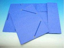 Deska A4 s gumou prešpán modrá