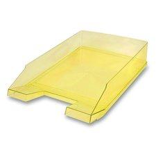 Kancelářský odkladač Helit Economy Transparent - žlutý