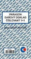 Paragon - daňový doklad číslovaný
