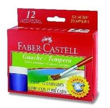 Temperové barvy FABER-CASTELL, 12 barev