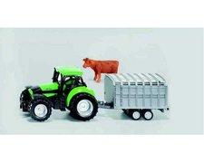 SIKU Super - Deutz Agrotron s přívěsem na přepravu dobytka