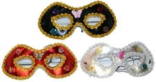 Maska oční s ozdobou, 3 druhy