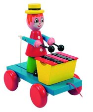 Woody Tahací klaun s xylofonem