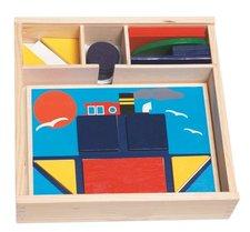 Woody Didaktická vkládačka - 10 obrázků v dř.krabičce