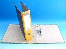 Pořadač A4 pákový 7,5cm mramor žlutý