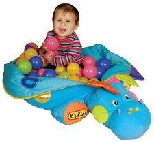K´s Kids - Velký dinosaurus se 60 míčky