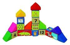 K´s Kids - Sada veselých látkových kostek, 12 kostek a 8 trojúhelníků