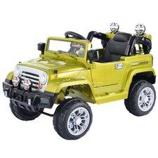 Dimix Elektrické auto Jeep zelený, 2 motory, odpružená náprava, ovládací panel, R/C 2,4GHz, EVA kola