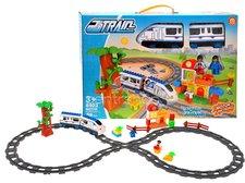Vláčkodráha s nádražím a mašinkou