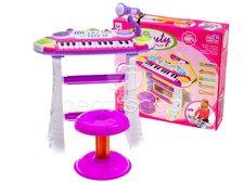 Dětské klávesy růžové
