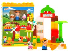 Kostky farma v plastovém boxu 41 ks