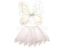 Motýlí křídla a sukně bílá