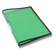 Foldermate Pop Gear - transparentní 4kroužkový pořadač - zelený