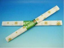 Papír krepový bílý se zlatou hvězdou