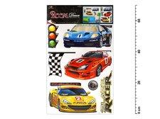 Samolepící dekorace 1065 závodní auta 70x42cm