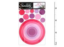 Samolepící dekorace 10064 kruh růžový 70x42cm