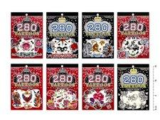 Tetovac� obtisky 887871 mix barev12x8cm