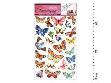 Samolepící dekorace 10142 barevní motýli 53x29cm