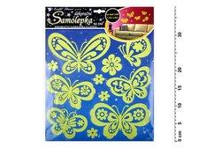 Samolepící dekorace 10109 svítící ve tmě motýli 38x31cm