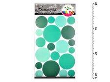 Samolepící dekorace 10168 kolečka zelená 60x32 cm
